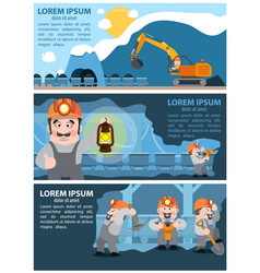 coal infographics coal mining and transportation vector image vector image