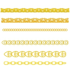 gold chain vector image vector image