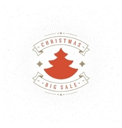 Merry Christmas Big Sale Card and Decoration vector image