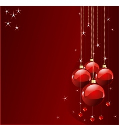 red colors Christmas place card vector image vector image