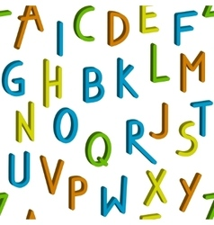 Seamless childrens bright alphabet pattern vector image vector image