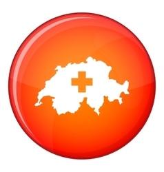 Switzerland map icon flat style vector