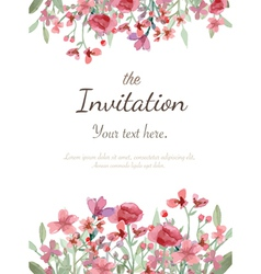 Flower invitation card vector image vector image