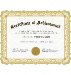Heavy border certificate vector