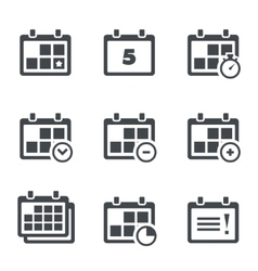 icon calendar with notes vector image vector image