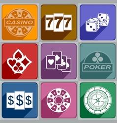 Icons casino vector