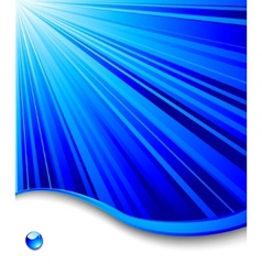 blue banner template - ray background vector image vector image