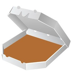 box for pizza vector image vector image