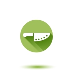 chef knife simple flat long shadow icon vector image