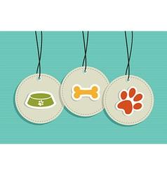 Hanging pet badges set vector image vector image