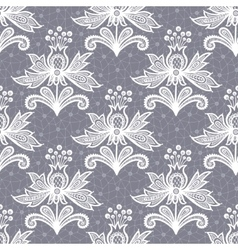 White lace flower isolated on Gray background vector image