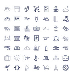 49 tourism icons vector