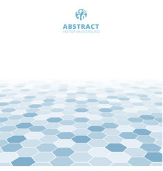 abstract hexagon perspective pattern white and vector image