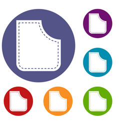 Abstract pocket icons set vector
