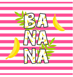 Banana tshirt design print vector
