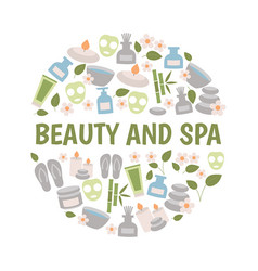beauty and spa design concept beauty and spa vector image