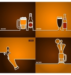 Beer outline for Design 1 vector image