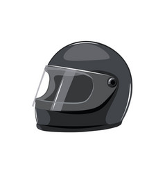 Black motorcycle helmet on a white background vector