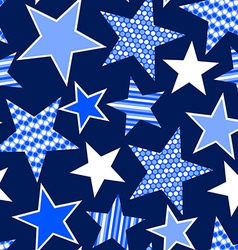 blue stars and stripes seamless pattern vector image
