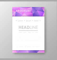 Brochure design with geometric background vector