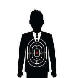 Business man shooting target vector