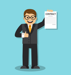 businessman got a new job vector image