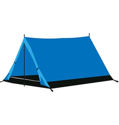 Camping tent blue vector image