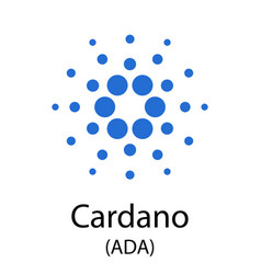 cardano cryptocurrency symbol vector image
