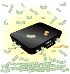 case and money vector image vector image