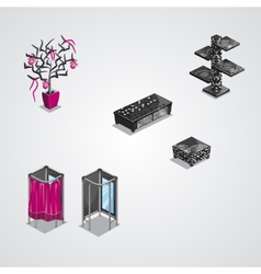 Collection of modern furniture-EPS10 vector