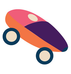 colorful fancy toy car or color vector image