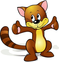 Cute cat cartoon vector image vector image