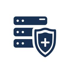 Data storage security icon vector