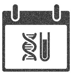 DNA Analysis Calendar Day Grainy Texture Icon vector image