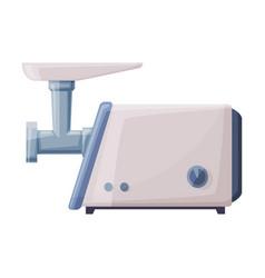 electric meat grinder mincer household kitchen vector image