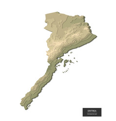Eritrea map - 3d digital high-altitude vector
