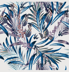 fashion floral pattern with tropical palm leaves vector image