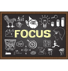 Focus on chalkboard vector image