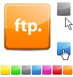 FTP glossy button vector