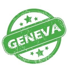 Geneva green stamp vector