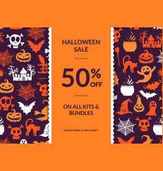 halloween background with vertical vector image