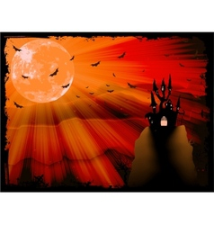 Halloween poster with zombie background EPS 10 vector image