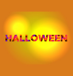 Halloween theme word art vector
