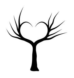 heart tree symbol icon design beautiful isolated vector image