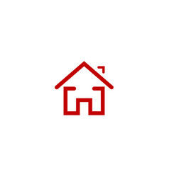 house realty line logo vector image