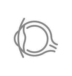 Human eye line icon healthy organ visual vector