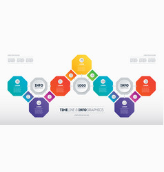 Infographics technological or education vector