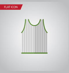 Isolated sleeveless tank flat icon singlet vector