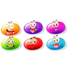 Jelly beans with faces vector image