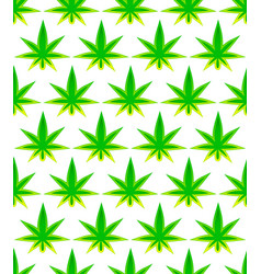 leaf of cannabis tileable background vector image
